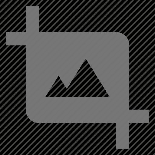 crop, image, photo icon