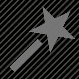 magic wand, star icon