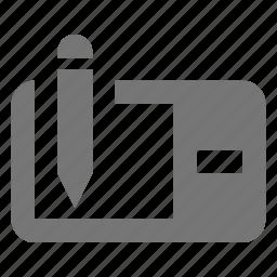 device, edit, pen, stylus, tablet icon