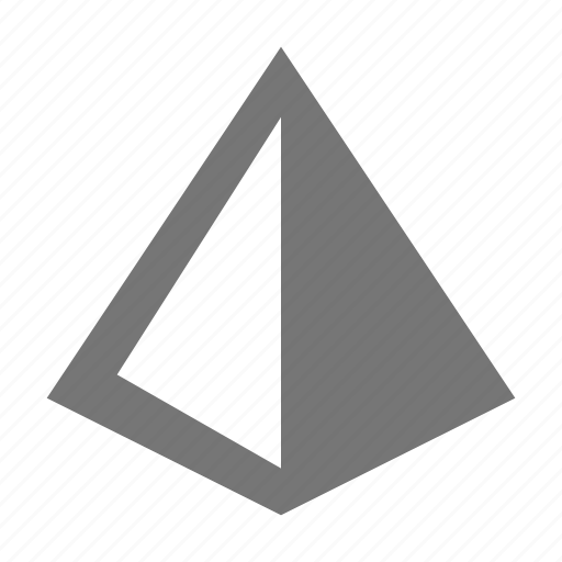 pyramid, triangle icon