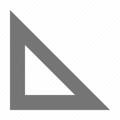 right angle, ruler, triangle icon