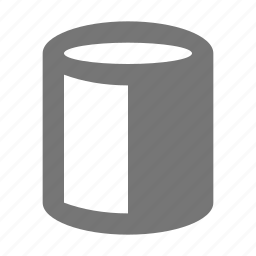 contrast, cylinder, tube icon