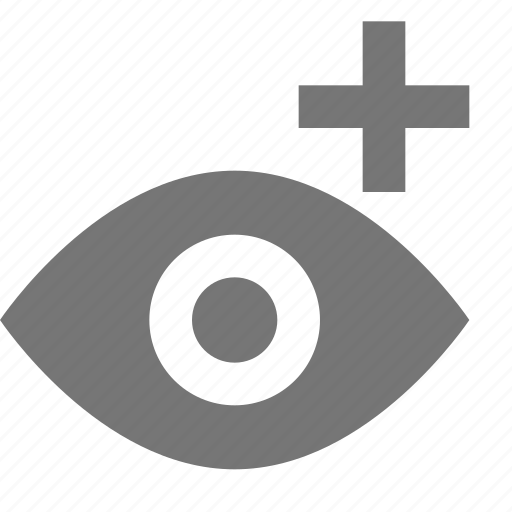 add, eye, new, plus, view icon