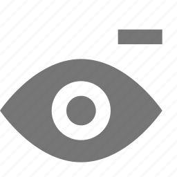 eye, minimize, minus, view icon
