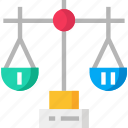 balance, balance scale, comparison, scale icon