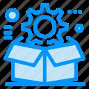 box, cog, configuration, gear, setting icon