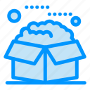 box, open, packages, product, service icon
