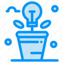 brainstorm, fresh, idea, light, plant icon