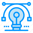 bulb, drawing, idea, solution, vector icon