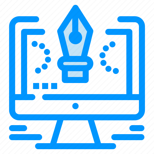 comuter, design, drawing, pen, software icon