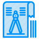 compass, drawing, file, geometry, tool icon