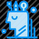 art, digital, mind, stationary, user icon