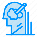 idea, mind, pen, solution, user icon