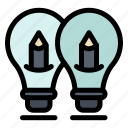 bulb, idea, light, pencil, solution