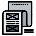 attachment, document, email, file, message icon