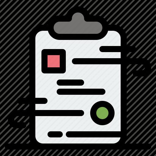 checklist, clipboard, document, paper icon