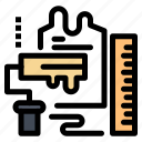 brush, decoration, paint, roller, scale icon