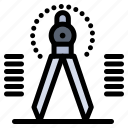 compass, draw, drawing, geometry, tool icon