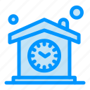 clock, design, home, house, time icon