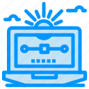 computer, draw, drawing, file, vector icon