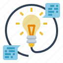 bulb, creative, design, head, knowledge, light, thinking icon