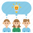 businessman, design, meeting, office, talk, team, thinking