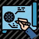 blueprint, browser, design, idea, prototype, thinking