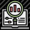 programming, stats, web, laptop, archive, chart, bar