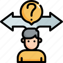 choice, question, decision, business, making, choose, doubt icon