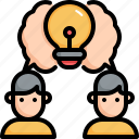 business, creative, brainstorm, idea, strategy icon
