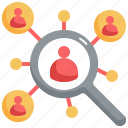 search, targeting, customer, find, audience icon