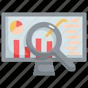 graph, research, analytics, chart, monitor, statistics