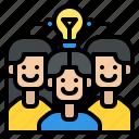 brainstorm, teamwork, process, thinking