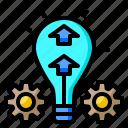 branding, idea, tube, gear, up, bulb