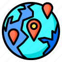 location, earth, world, pin, delivery