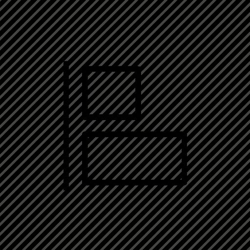 align, align left, design tool, layout, left icon