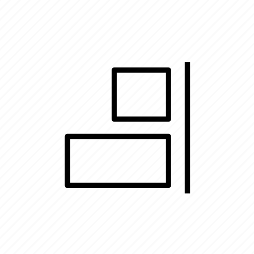 align, align right, design tool, layout, right icon
