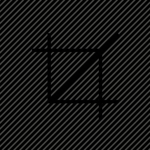 crop, crop tool, cut, design tool, edit icon