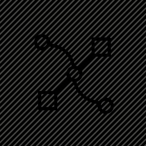 curve, design tool, illustrate, vector, vector curve icon