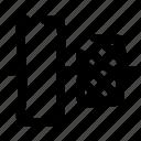 arrange, align, layout, center, elements, vertical, design icon