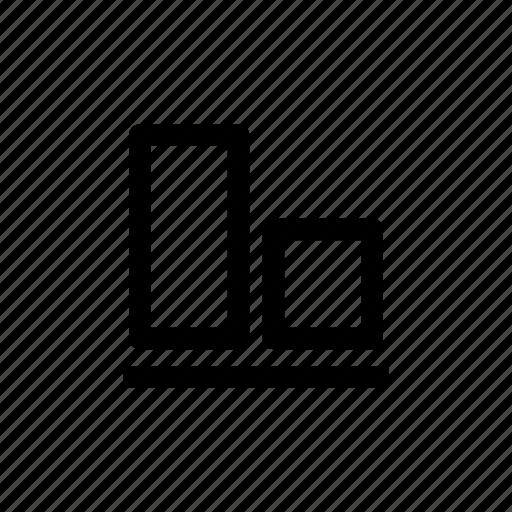 align, align bottom, bottom, design tool, layout icon