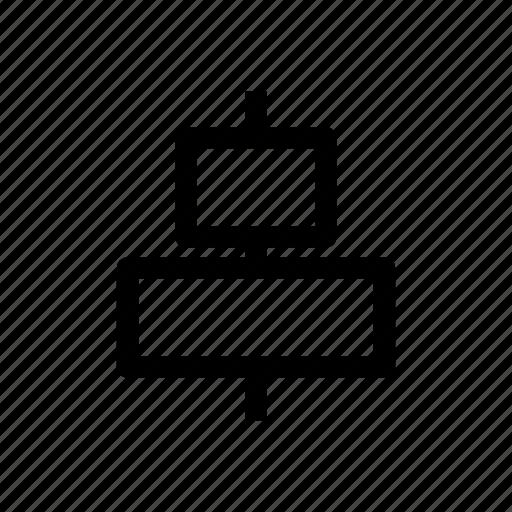 align, center, design tool, horizontal, layout icon