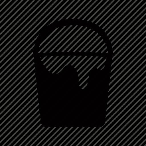 bucket, design, graphic, tools icon