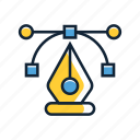 anchor point, handles, line, pen tool icon