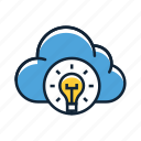 cloud, cloud sync, idea icon