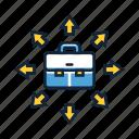 freelance, freelancer, freelancing, portfolio, suitcase icon