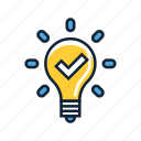 bulb, creative, creativity, idea, inspiration, light, light bulb icon