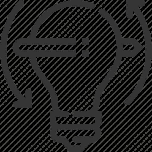 brainstorming, creativity, design, idea, lamp, project, start up icon