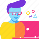 design, designer, graphic, man, web design, work