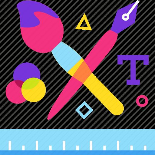 art, bursh, design, pen, tool, tools icon